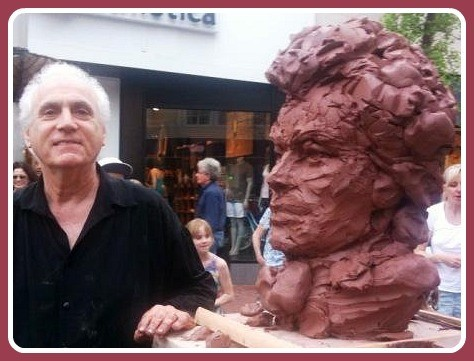 "Two years ago during ""Art About Town,"" clay sculptor Peter Rubino created Beethoven -- as the ""5th Symphony"" played in the background."