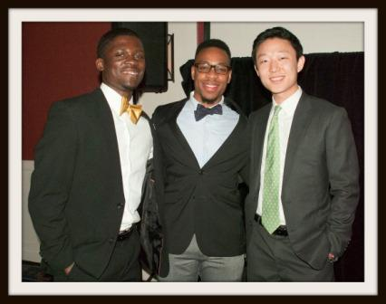 (From left) Charles Winslow, Khalif Rivers and Jonathan Choi, at an ABC event earlier this year.
