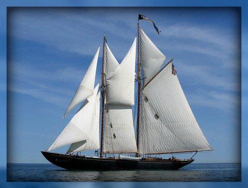 The 126-foot, 8-mast schooner Virginia.