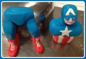 Amelia's intricate Captain America fondant.