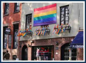 The Stonewall Inn, getting ready for 2013 Gay Pride.