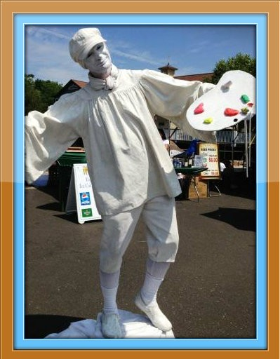 """""""Don't mime me,"""" this guy said last year at the Westport Fine Arts Festival."""