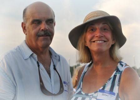 Pete Romano and Robin Tauck -- one of Westport's favorite couples.