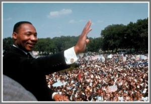 Rev. Martin Luther King, the day after inspiring Adam Stolpen.