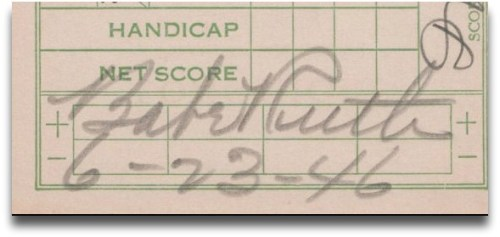Babe Ruth scorecard