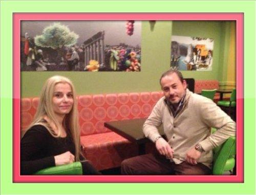 The Iskandars -- Carole and Nick -- take a brief break at Kibberia.