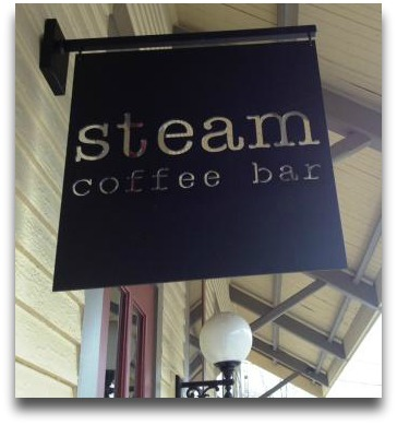 The Steam sign -- shown here in 2014 -- is now gone.