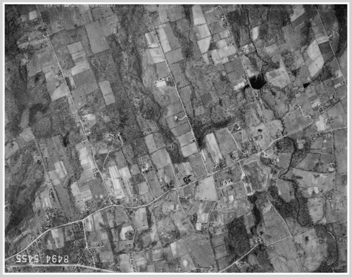 Westport aerial view 1934 - Roseville Road, North Avenue, Bayberry Lane