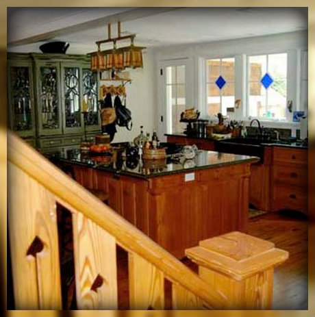 The kitchen is beautiful, homey, centrally located -- a perfect hangout space.