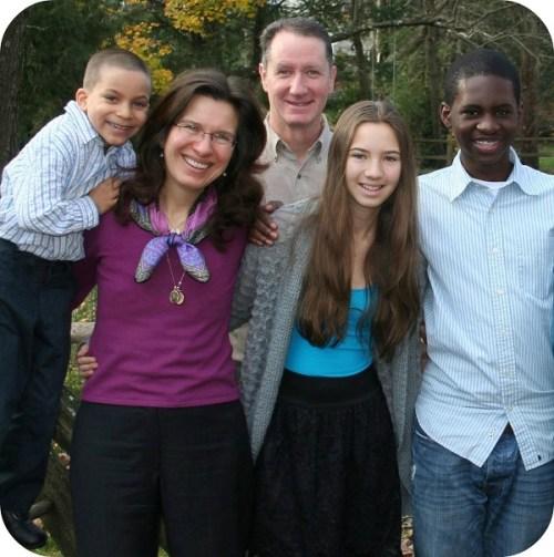 Khaliq Sanda with his host family: Nick, Kim, Mark and Nicole Mathias.
