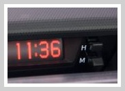Toyota clock 1