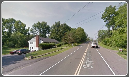 The house on the left is 92 Greens Farms Road. (Photo courtesy of Google Maps)