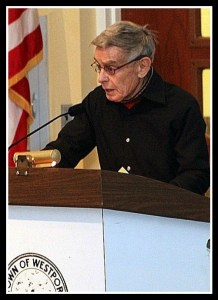 David Royce, speaking up in later years. (Photo courtesy of Dave Matlow for WestportNow.com)