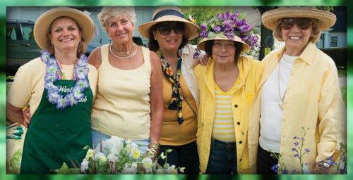 Westport Garden Club members enjoy the annual plant sale.