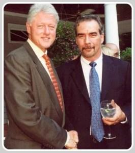 Michael Barrett (right) and friend.