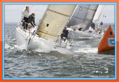 A close turn, at the weekend Cedar Point regatta. (Photo/copyright Barry Hyman Photography)