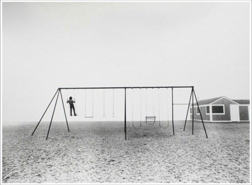 Larry Silver - Boy Standing on Swing
