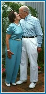 Shirley Land and her beloved husband Alex.