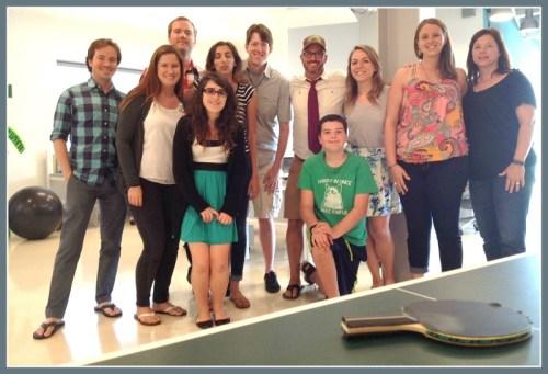 The MadisonMott staff (with Luke Scott's son Jasper, green shirt).