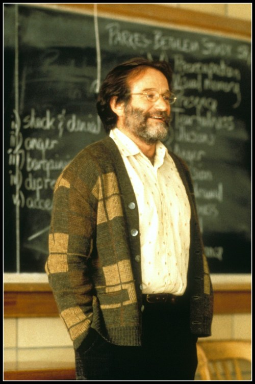 "Robin Williams in ""Good Will Hunting"" -- one of his best roles ever."