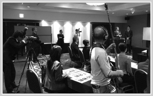 The press was out in force for the sake sommelier competition.