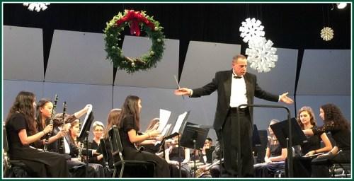 Nick Mariconda and the symphonic band. (Photo/Lynn U. Miller)