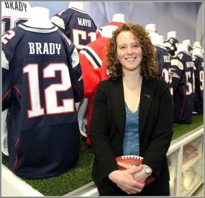 Jessica Gelman, at work. (Photo/Sports Business Journal)