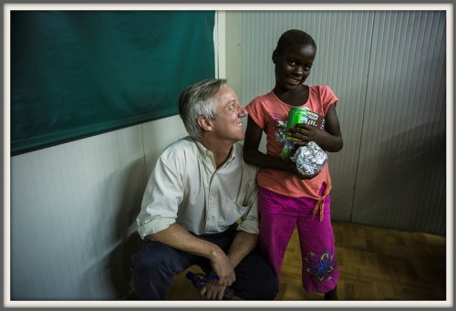 A 10-year-old Ebola survivor, and Tony Banbury.