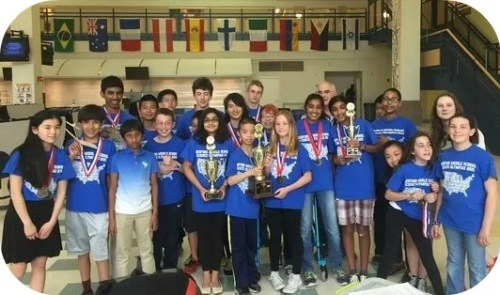 The Bedford Middle School Science Olympiad team. (Photo/Casey Donahue)