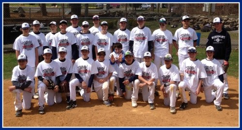 Westport's Blue and White 13-and-Under baseball team: New Haven tournament co-champs.