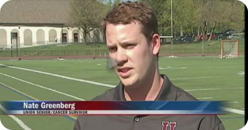 A screenshot of News10's interview with Nate Greenberg.