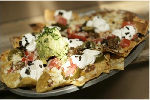 Viva Zapata's nachos with sausage.