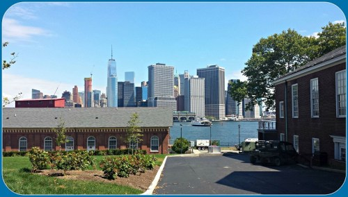 The Battery, as seen from Governors Island.