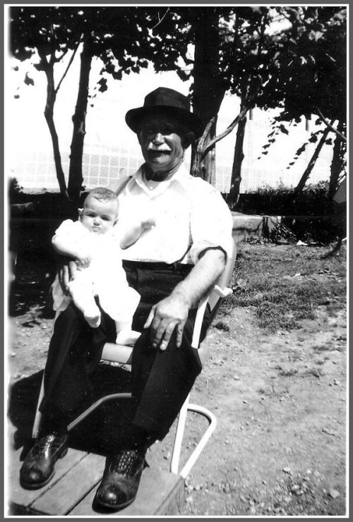 Antonio and Marie Gilbertie with granddaughter Celeste, around 1940.