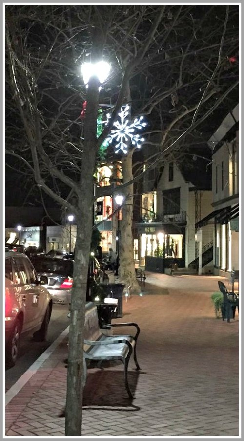 Meanwhile, further north, a lone snowflake glistens near Oscar's...