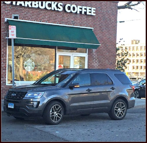 Westport has plenty of congested corners. This (with a photo showing a parked car in a no-parking zone) is one of the worst.