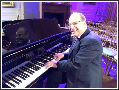 Tommy Greenwald at the White House piano. I asked if it was the same one Richard Nixon played. Tommy did not know -- but it was definitely the one Andrew Lloyd Webber sat at just a few minutes earlier.