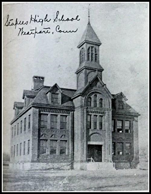 The original Staples High School on Riverside Avenue ...