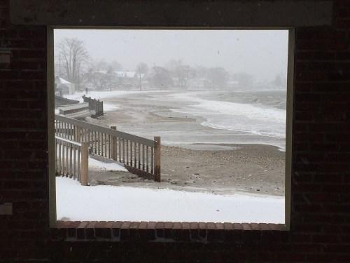The pavilion frames part of Compo Beach. (Photo/Brian Chapman)