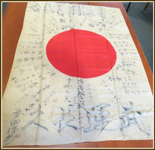The 70-year-old Japanese flag.