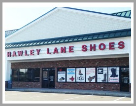 The Norwalk Hawley Lane Shoes store.