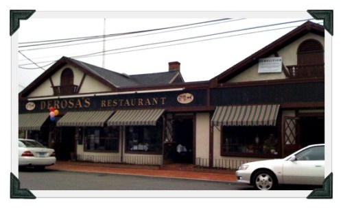 For over 8 decades Riverside Barber Shop sat on Riverside Avenue (right). DeRosa's restaurant was on the left.