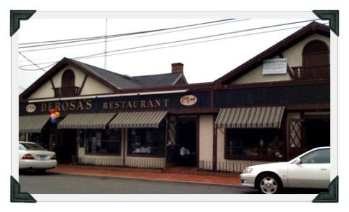 For over 8 decades Riverside Barber Shop sat on Riverside Avenue (right). DeRosa's restaurant was on the left.