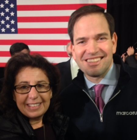 Toni O'Day with Senator Marco Rubio.