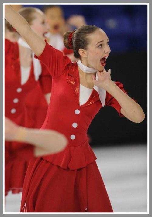 Sonya Danchak in action.