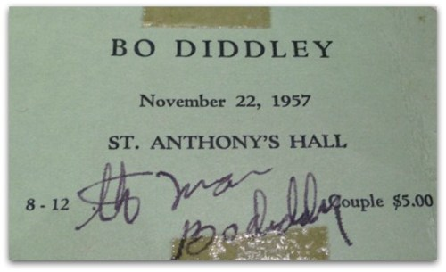 Bo Diddley ticket - Michael James