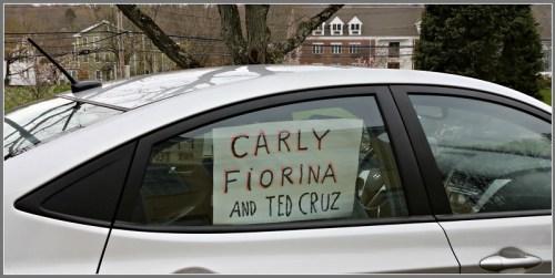 Carly Fiorina and Ted Cruz