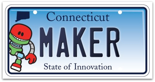 Connecticut innovation license plate