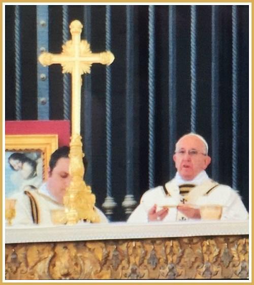 Pope Francis, as photographed by Jaime Bairaktaris.