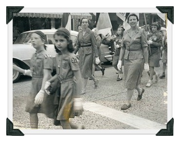 Memorial Day parade 1955 - Girl Scouts - Ann Sheffer